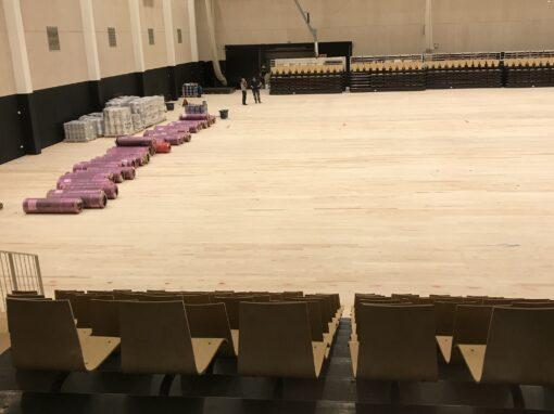 Nyt gulv i Birkerød Idrætscenter færdigt ultimo maj